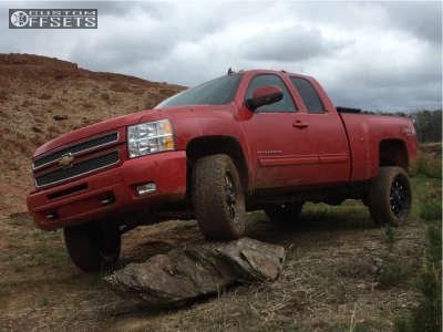 2012 Chevrolet Silverado 1500 - 20x9 0mm - Fuel Krank - Leveling Kit - 275/55R20