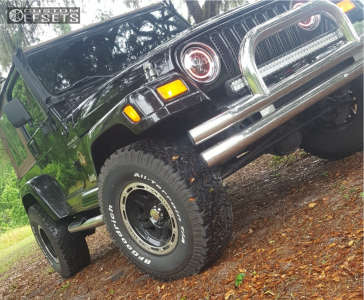 """1999 Jeep Patriot - 15x8 -27mm - Alloy Ion Style 133 - Stock Suspension - 32"""" x 11.5"""""""