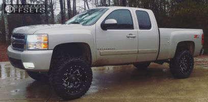 """2008 Chevrolet Silverado 1500 - 20x10 -12mm - Fuel Lethal - Suspension Lift 6"""" - 35"""" x 12.5"""""""