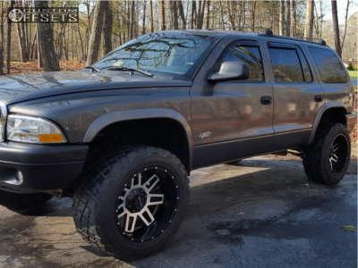"""2002 Dodge Durango - 20x12 -44mm - Raceline Injector - Suspension Lift 3.5"""" - 315/50R20"""