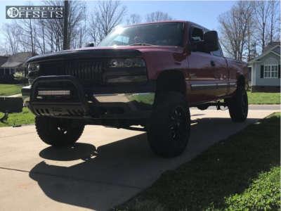 """2001 Chevrolet Silverado 1500 - 18x9 0mm - Fuel Krank - Suspension Lift 6"""" - 275/70R18"""