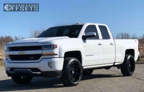 2018 Chevrolet Silverado 1500 - 20x10 -19mm - Hostile Fury - Leveling Kit - 275/55R20