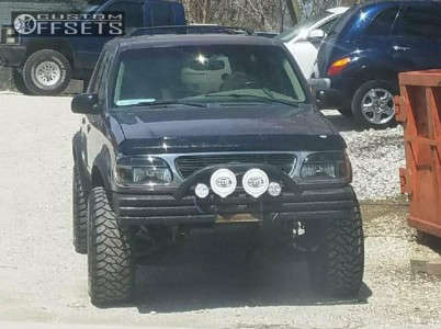 """1997 Ford Explorer - 15x8 -27mm - Alloy Ion Style 171 - Leveling Kit & Body Lift - 33"""" x 12.5"""""""