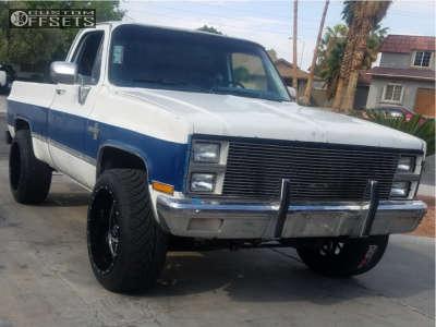 "1982 Chevrolet C10 Pickup - 22x12 -44mm - Xtreme Force Xf2 - Body Lift 3"" - 305/45R22"