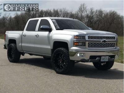 "2014 Chevrolet Silverado 1500 - 20x10 -24mm - Havok H109 - Suspension Lift 3.5"" - 295/55R20"