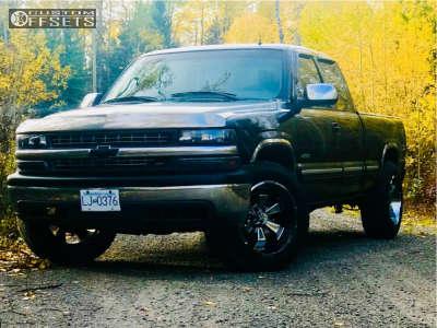 2001 Chevrolet Silverado 1500 - 20x10 -19mm - Hostile Hammered - Stock Suspension - 275/60R20