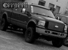 """2007 Ford F-250 - 20x9 -12mm - Helo He879 - Suspension Lift 4.5"""" - 35"""" x 12.5"""""""