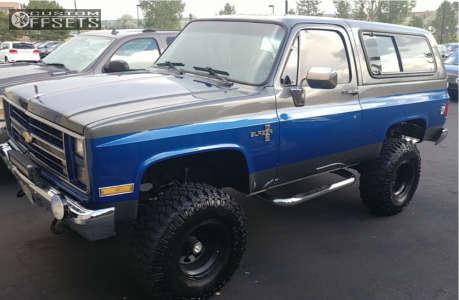 "1987 Chevrolet Blazer - 15x10 -50mm - U.S. Wheels Model 78 - Suspension Lift 6"" - 35"" x 12.5"""