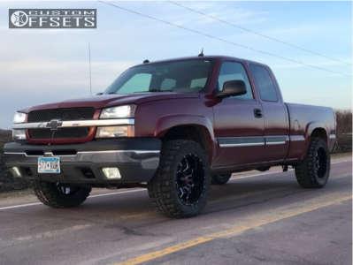 """2004 Chevrolet Silverado 1500 - 20x10 -24mm - Havok H109 - Stock Suspension - 33"""" x 12.5"""""""