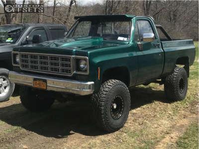"1979 Chevrolet K10 Pickup - 15x10 -44mm - Pro Comp Series 252 - Suspension Lift 4"" - 35"" x 12.5"""