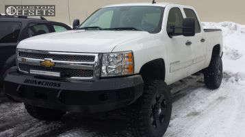 "2013 Chevrolet Silverado 1500 - 18x9 0mm - Xd Rockstar - Suspension Lift 6"" - 35"" x 12.5"""