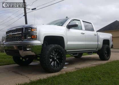 "2014 Chevrolet Silverado 1500 - 20x10 -19mm - Cali Offroad Distorted - Suspension Lift 7.5"" - 35"" x 12.5"""