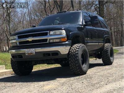 "2002 Chevrolet Tahoe - 16x10 -38mm - Black Rock 997 - Suspension Lift 6"" - 315/75R16"