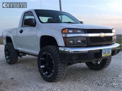 "2007 Chevrolet Colorado - 20x9 0mm - Incubus Crusher - Leveling Kit & Body Lift - 33"" x 12.5"""