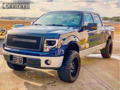 """2011 Ford F-150 - 20x10 -18mm - Fuel Sledge - Leveling Kit - 33"""" x 12.5"""""""
