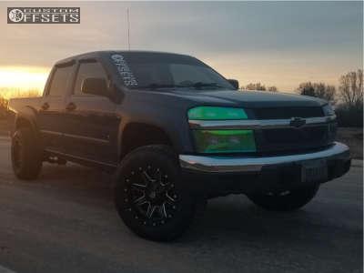 """2006 Chevrolet Colorado - 17x10 -24mm - Fuel Maverick D610 - Suspension Lift 3"""" - 265/70R17"""