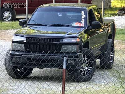 2009 Chevrolet Colorado - 20x9 18mm - Helo He835 - Stock Suspension - 275/55R20