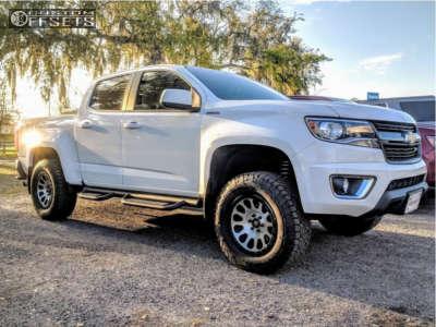"""2017 Chevrolet Colorado - 17x8.5 7mm - Fuel Vector - Suspension Lift 3"""" - 265/70R17"""