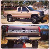 "1996 Chevrolet Silverado 1500 - 18x10 5mm - American Eagle 197 - Suspension Lift 6"" - 295/70R18"