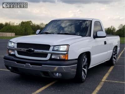 2005 Chevrolet Silverado 1500 - 22x9 24mm - Oe Performance 176 - Lowered 4F / 6R - 265/35R22