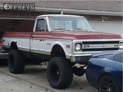 "1969 Chevrolet K20 Pickup - 20x12 -44mm - Raceline Shift - Suspension Lift 6"" - 36"" x 15.5"""