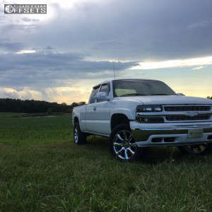 """2000 Chevrolet Silverado 1500 - 20x8.5 31mm - Spaced Out Stockers Spaced Out Stockers - Suspension Lift 2.5"""" - 33"""" x 12.5"""""""