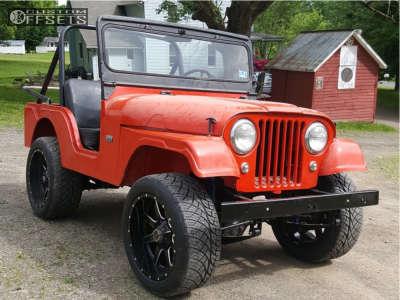1962 Jeep CJ5 - 20x10 -24mm - Fuel Maverick D610 - Stock Suspension - 285/50R20