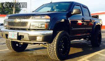 2008 Chevrolet Colorado - 18x10 -24mm - Moto Metal MO970 - Leveling Kit & Body Lift - 285/60R18