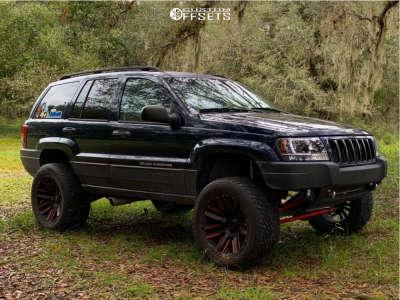 "2004 Jeep Grand Cherokee - 20x10 -24mm - Moto Metal Mo978 - Suspension Lift 4.5"" - 305/50R20"