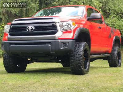 "2014 Toyota Tundra - 20x10 -24mm - Havok H103 - Suspension Lift 6"" - 35"" x 12.5"""