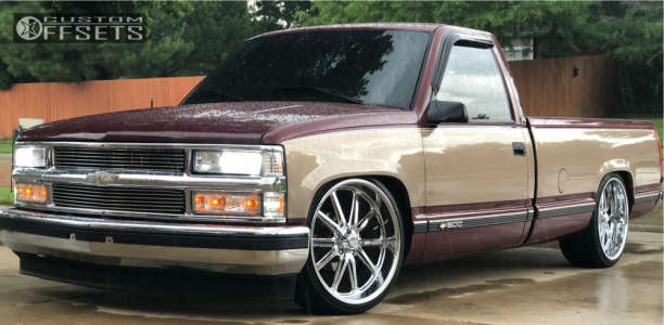 1996 Chevrolet C1500 - 22x11 1mm - Us Mags Rambler - Lowered 4F / 6R - 295/30R22