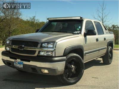 2003 Chevrolet Avalanche 1500 - 20x9 -12mm - Scorpion Sc9 - Stock Suspension - 275/40R20