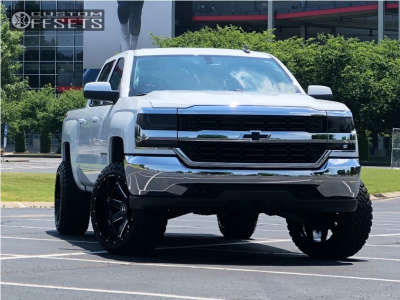 "2016 Chevrolet Silverado 1500 - 22x12 -44mm - Hostile Alpha - Suspension Lift 3.5"" - 33"" x 12.5"""