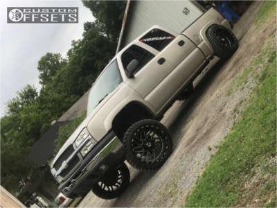 "2005 Chevrolet Silverado 1500 - 22x12 -51mm - TIS 544bm - Suspension Lift 6"" - 33"" x 12.5"""