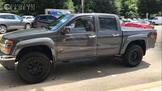 2009 Chevrolet Colorado - 17x8.5 25mm - Granite Alloy GA643 - Leveling Kit - 265/70R17