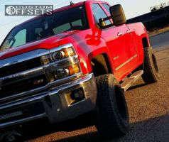 2015 Chevrolet Silverado 2500 HD - 20x12 -44mm - Moto Metal Mo962 - Leveling Kit - 305/50R20