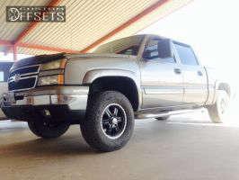 2006 Chevrolet Silverado 1500 - 17x8 25mm - American Racing 321 - Leveling Kit - 285/70R17