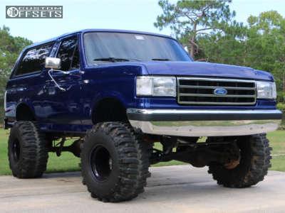 "1990 Ford Bronco - 15x14 -88mm - Bart Super Trucker - Suspension Lift 6"" - 35"" x 16.5"""