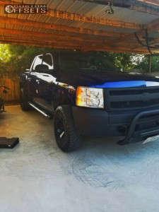 2013 Chevrolet Silverado 1500 - 17x9 -12mm - Fuel Monsta - Leveling Kit & Body Lift - 285/70R17