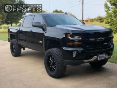 "2018 Chevrolet Silverado 1500 - 20x9 -12mm - Havok H108 - Suspension Lift 6"" - 35"" x 12.5"""