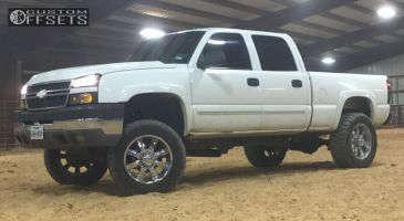 """2005 Chevrolet Silverado 2500 HD - 20x10 -12mm - Driv 100 - Suspension Lift 4"""" - 35"""" x 12.5"""""""