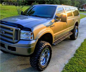 "2005 Ford Excursion - 20x10 -19mm - Gear Off-Road Big Block - Suspension Lift 5"" - 35"" x 12.5"""