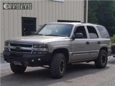 2003 Chevrolet Tahoe - 16x8 0mm - Dick Cepek Torque - Leveling Kit - 285/75R16