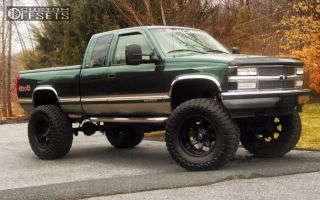 "1998 Chevrolet K1500 - 20x12 -44mm - Fuel Octane - Lifted >9"" - 40"" x 15.5"""