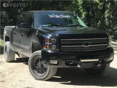 2012 Chevrolet Silverado 1500 - 20x9 1mm - Fuel Triton - Leveling Kit - 305/50R20