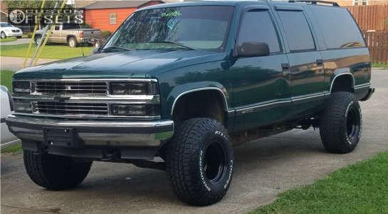 """1999 Chevrolet K1500 Suburban - 15x12 -51mm - Bart Super Trucker - Leveling Kit & Body Lift - 33"""" x 12.5"""""""