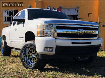 "2009 Chevrolet Silverado 1500 - 20x12 -44mm - Hostile Sprocket - Suspension Lift 3.5"" - 305/50R20"