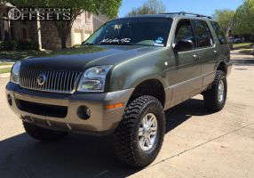 """2003 Mercury Mountaineer - 16x7 24mm - Spaced Out Stockers Spaced Out Stockers - Suspension Lift 4"""" - 33"""" x 12.5"""""""