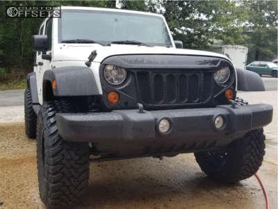 "2010 Jeep Wrangler - 17x9 -6mm - Pro Comp Series 40 - Suspension Lift 5"" - 35"" x 12.5"""