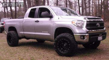 "2015 Toyota Tundra - 18x12 -44mm - Fuel Hostage - Suspension Lift 4"" - 35"" x 12.5"""